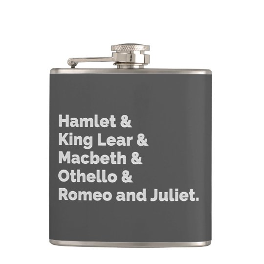 The Shakespeare Plays I Hip Flask