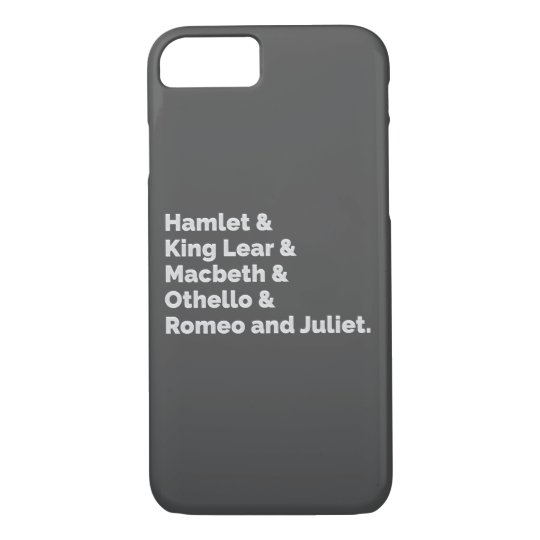 The Shakespeare Plays I iPhone 8/7 Case