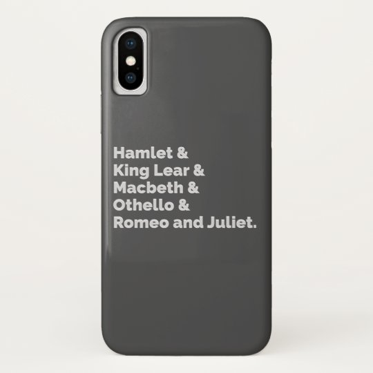 The Shakespeare Plays I iPhone X Case