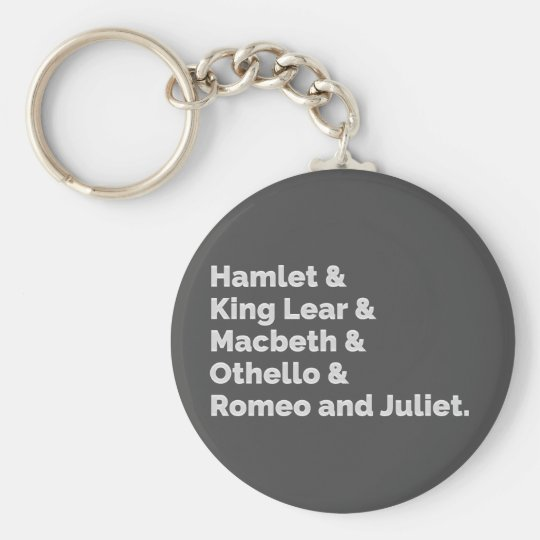 The Shakespeare Plays I Keychain