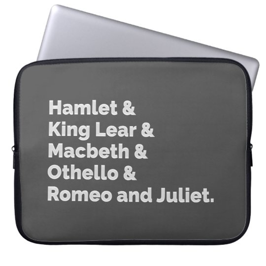 The Shakespeare Plays I Laptop Sleeve