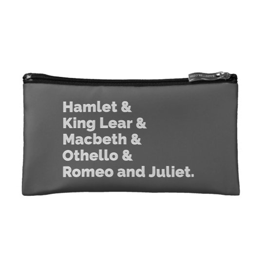 The Shakespeare Plays I Makeup Bag