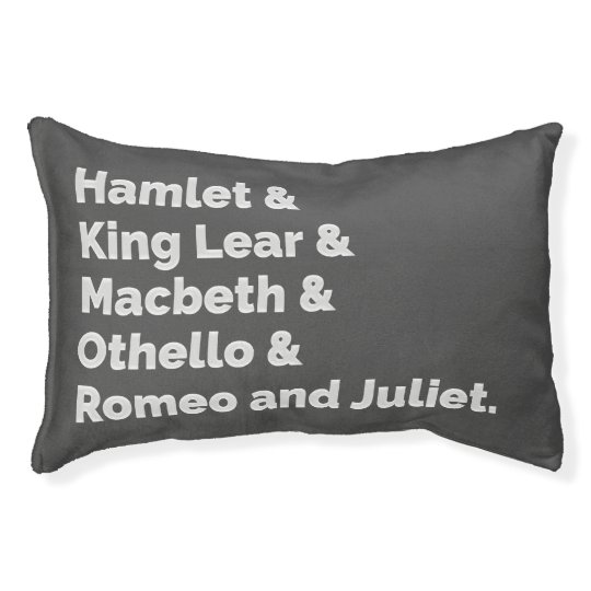 The Shakespeare Plays I Pet Bed