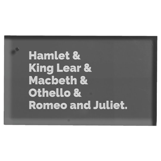 The Shakespeare Plays I Place Card Holder