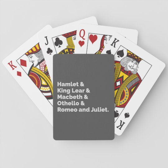 The Shakespeare Plays I Playing Cards