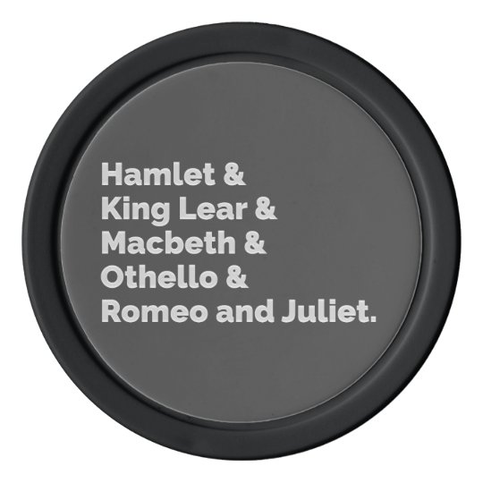 The Shakespeare Plays I Poker Chips