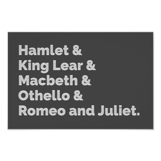 The Shakespeare Plays I Poster