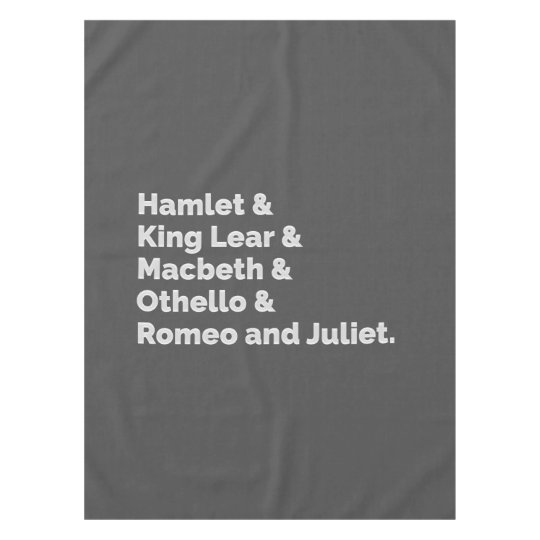 The Shakespeare Plays I Tablecloth