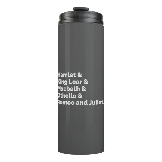 The Shakespeare Plays I Thermal Tumbler