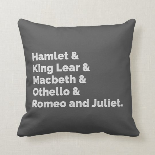 The Shakespeare Plays I Throw Pillow