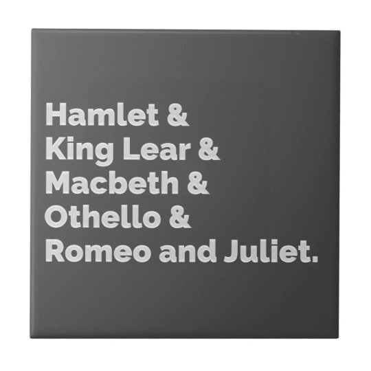 The Shakespeare Plays I Tile