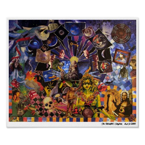 The Shaman's Dream ~ collage by Aleta Poster