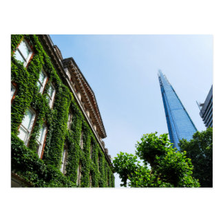 The Shard and Guy's Hospital covered in Ivy London Postcard