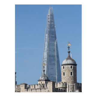 The Shard and Tower of London Postcard