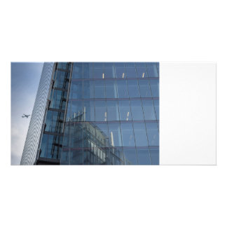 The Shard London and Jet Aircraft Personalized Photo Card