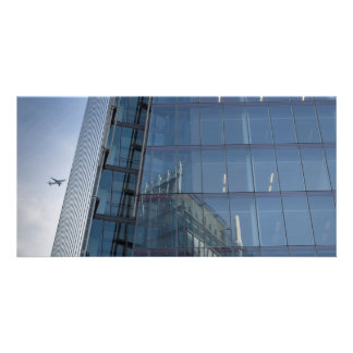 The Shard London and Jet Aircraft Photo Greeting Card