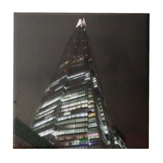 "The Shard Small (4.25"" x 4.25"") Ceramic Photo Tile"