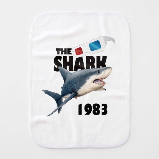 The Shark Movie Baby Burp Cloth