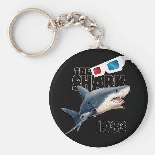 The Shark Movie Basic Round Button Keychain