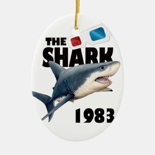 The Shark Movie Ceramic Oval Ornament