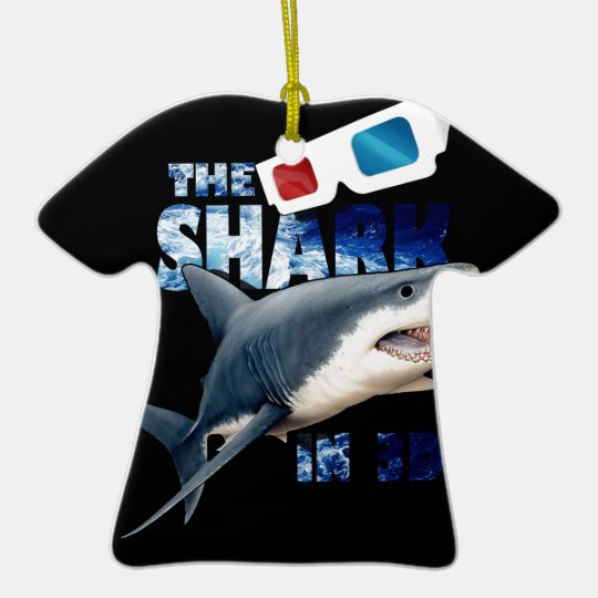 The Shark Movie Ceramic T-Shirt Ornament