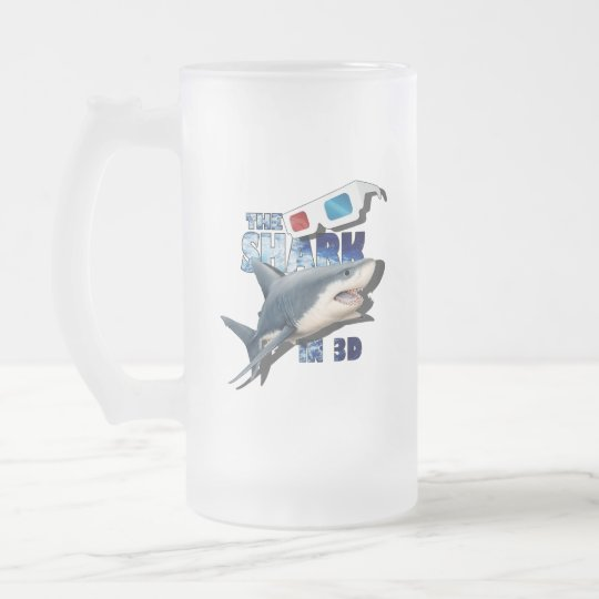The Shark Movie Frosted Glass Beer Mug