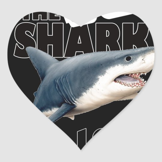 The Shark Movie Heart Sticker