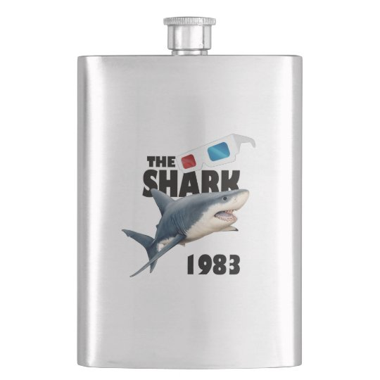 The Shark Movie Hip Flask