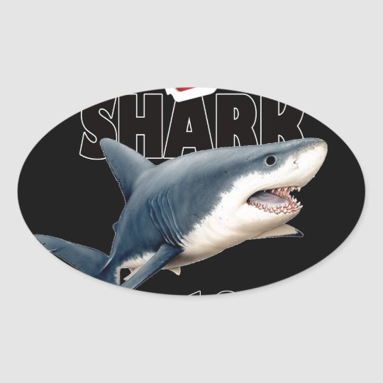 The Shark Movie Oval Sticker