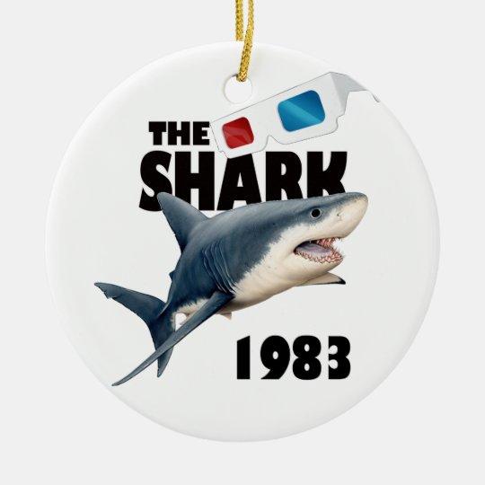 The Shark Movie Round Ceramic Ornament