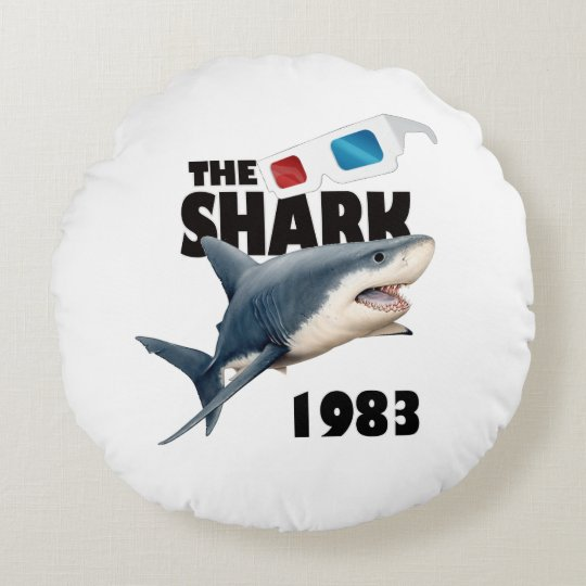 The Shark Movie Round Pillow