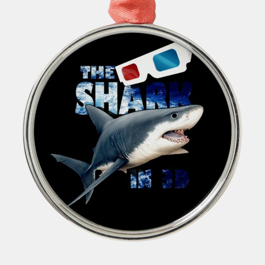 The Shark Movie Silver-Colored Round Ornament