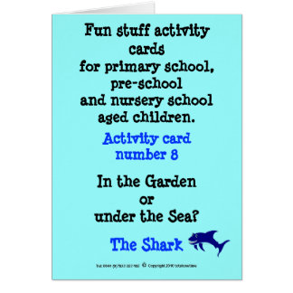 The Shark - Note size Sample activity card