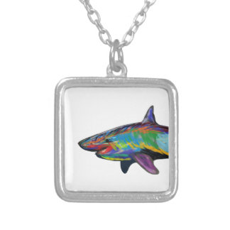 THE SHARK SPECTRUM SILVER PLATED NECKLACE