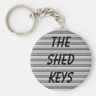 The Shed Keys Basic Round Button Keychain