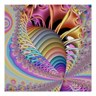 The Shell Fractal Poster