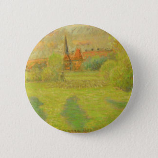 The Shepherd and the Church of Eragny 2 Inch Round Button