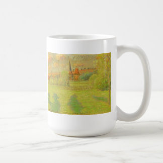 The Shepherd and the Church of Eragny Coffee Mug