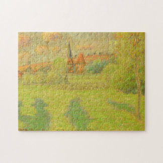 The Shepherd and the Church of Eragny Jigsaw Puzzle