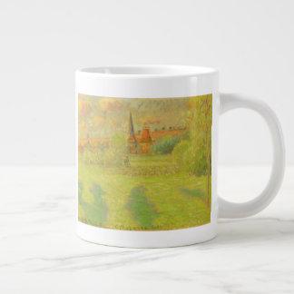 The Shepherd and the Church of Eragny Large Coffee Mug