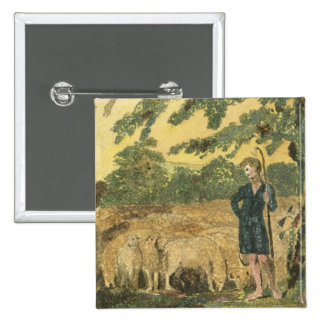 The Shepherd, from 'Songs of Innocence', 1789 (col 2 Inch Square Button