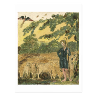 The Shepherd, from 'Songs of Innocence', 1789 (col Postcard