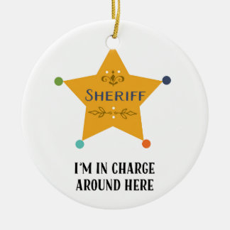 The Sheriff Ceramic Ornament