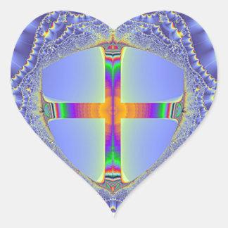 """The Shield"" - Fractal Design Heart Sticker"