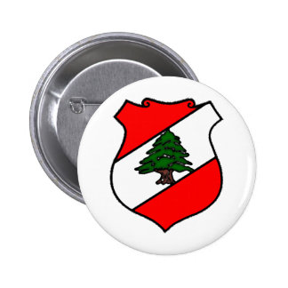The Shield of Lebanon 2 Inch Round Button