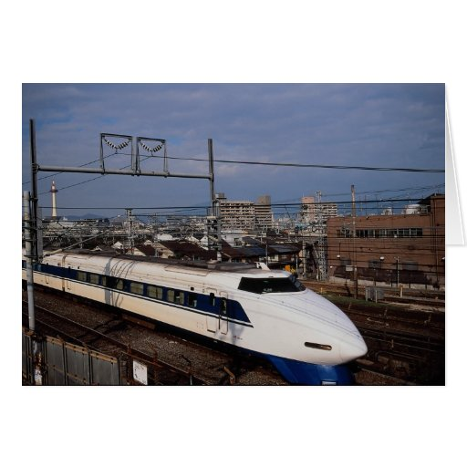 The Shinkansen or Bullet Train, Kyoto, Japan Greeting Cards