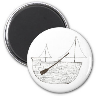 The Ship 2 Inch Round Magnet