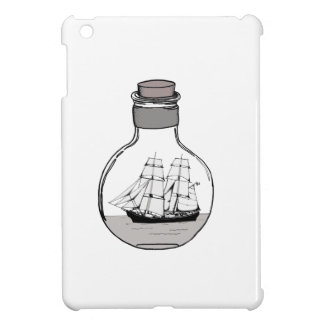 The ship in the glass bulb case for the iPad mini