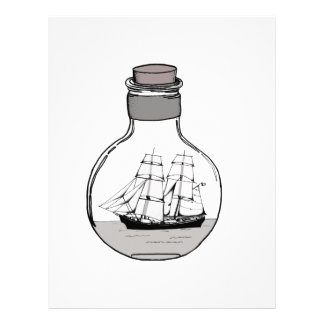 The ship in the glass bulb letterhead
