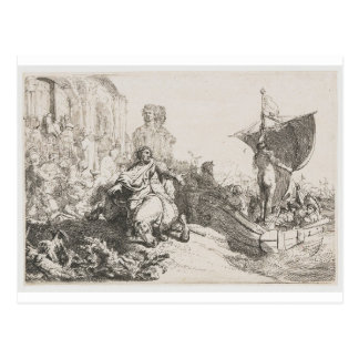 The ship of fortune by Rembrandt Postcard
